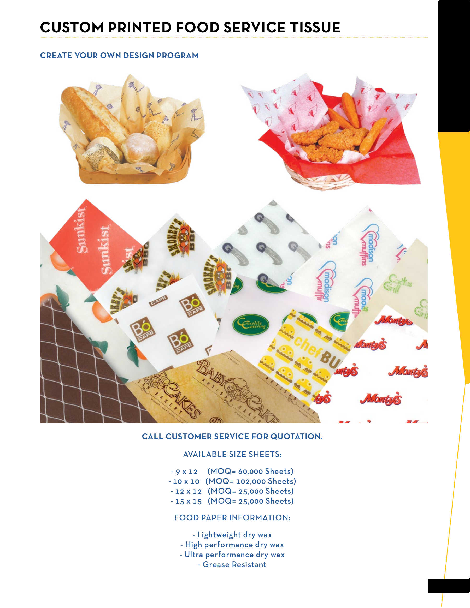 Custom Printed Food Tissue