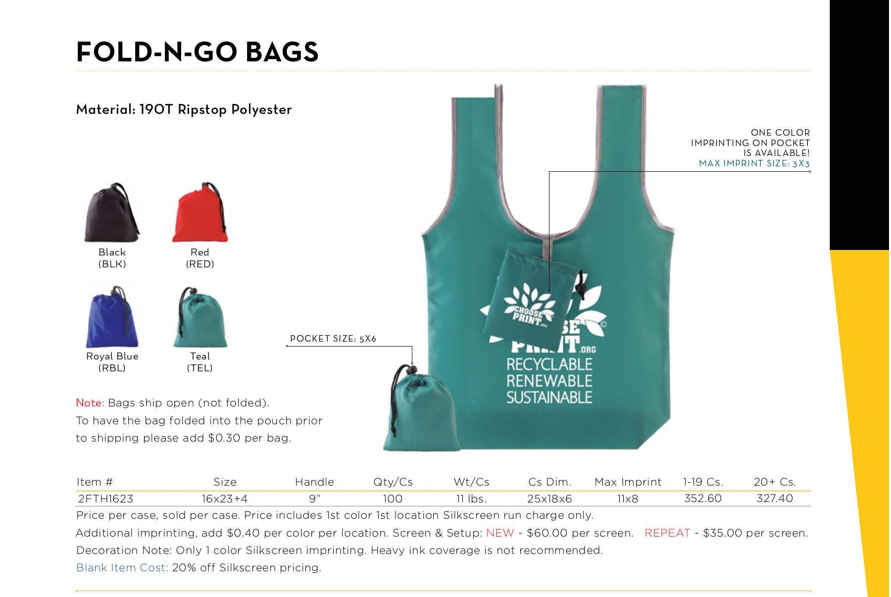 Fold-N-Go Bags