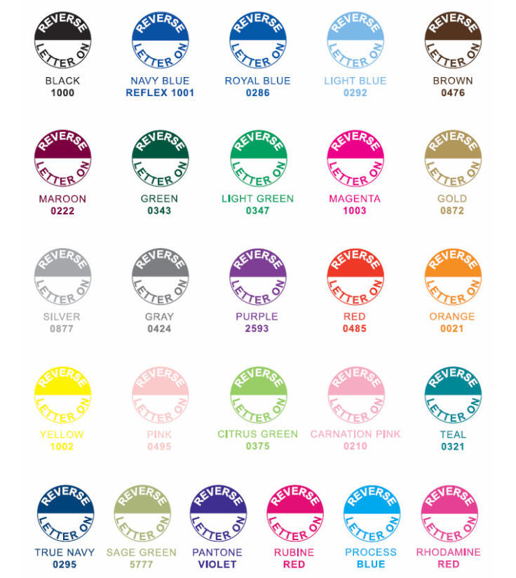 Ink and Hot Stamp Colors