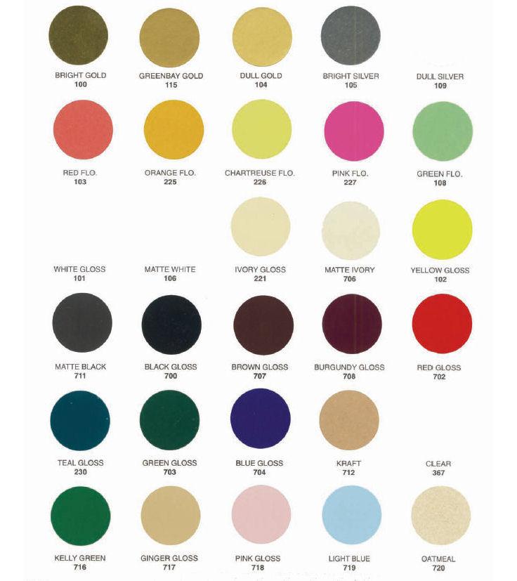 Label Material Colors
