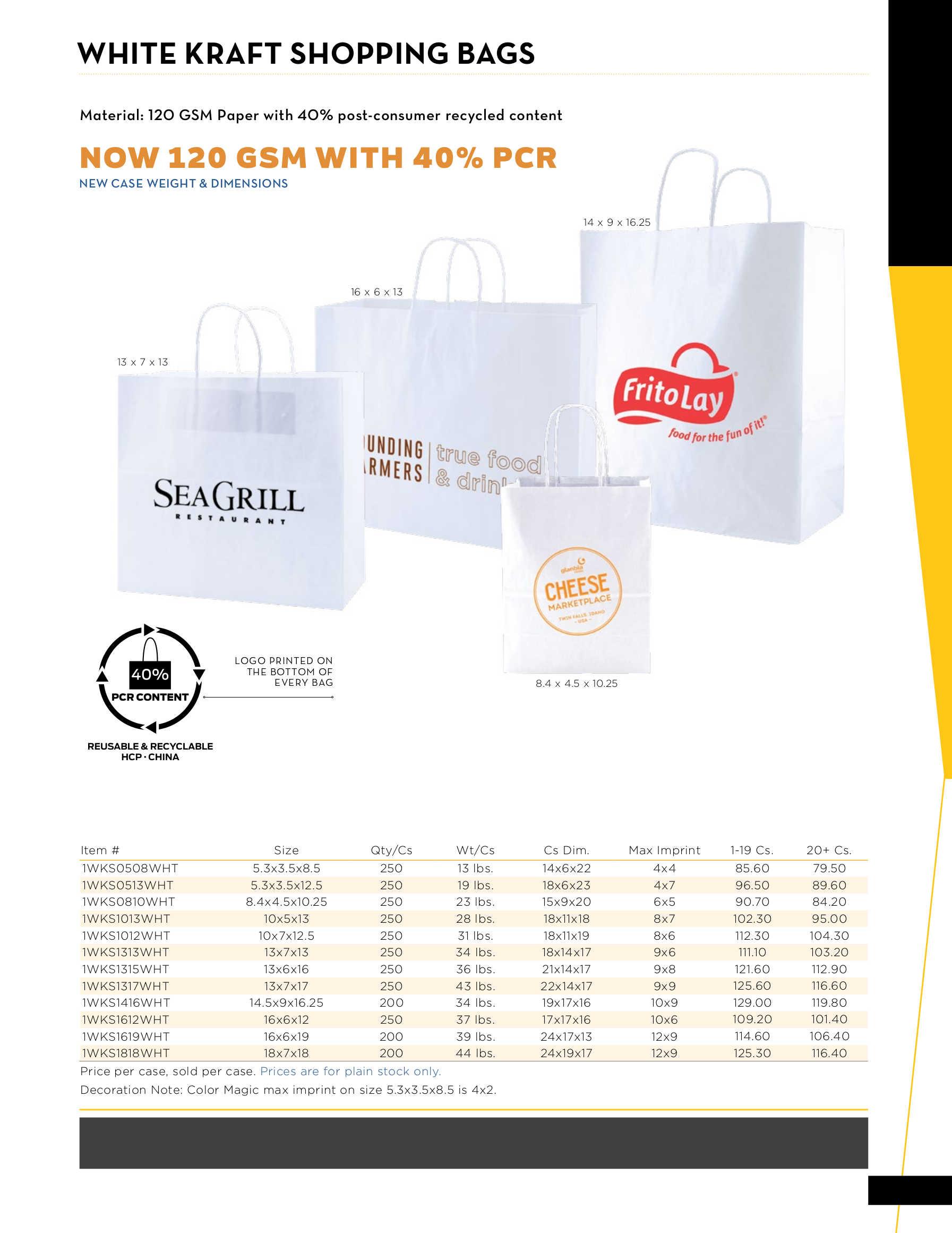 Custom White Paper Shopping Bags