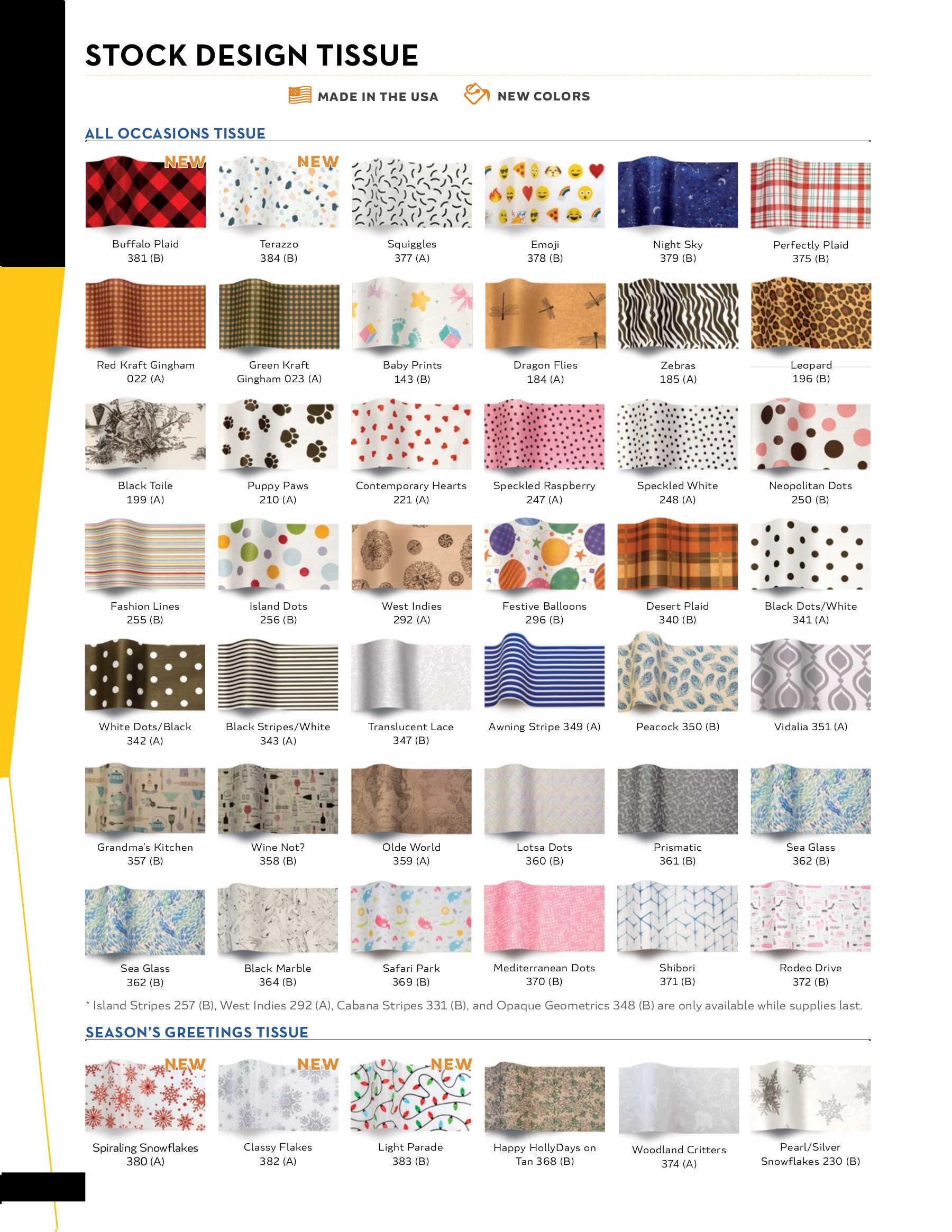 Stock Design Tissue